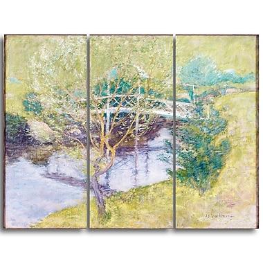 Designart John Henry Twatchman, The White Bridge Canvas Art Print, 3 Panels, (PT4646-3P)