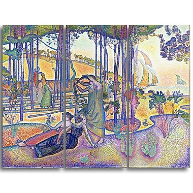 Designart Henri-Edmond Cross, The Evening Air Lansdcape Artwork, (PT4497-3P)