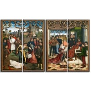 Designart Dirk Bouts, Justice of Emperor Otto III Canvas Art Print, (PT4300-271)