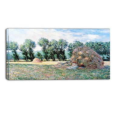Designart Claude Monet, Haystacks Landscape Canvas Arwork, (PT4243-40-20)