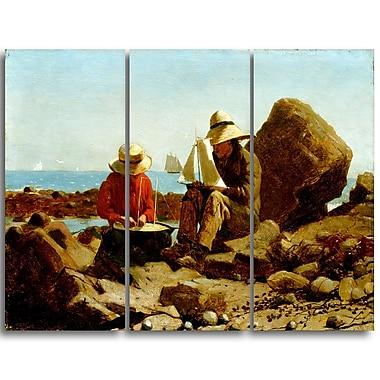 Designart – Toile imprimée, Les constructeurs de bateaux, Winslow Homer (PT5018-3P)