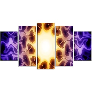 Designart Purple Sunburst Canvas Art Print, (PT3042-373)