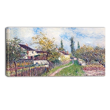 Designart Alfred Sisley, A Path at Les Sablons Large Landscape Canvas Art Print, (PT4128-40-20)