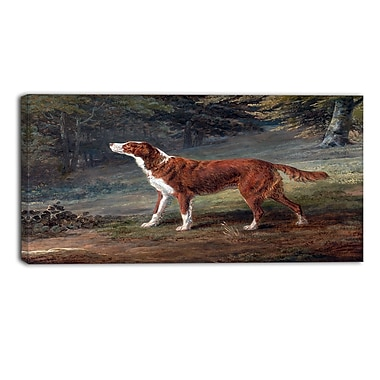 Designart George Garrard, Ranger, a Setter Landscape Canvas Art Print, (PT4414-32-16)