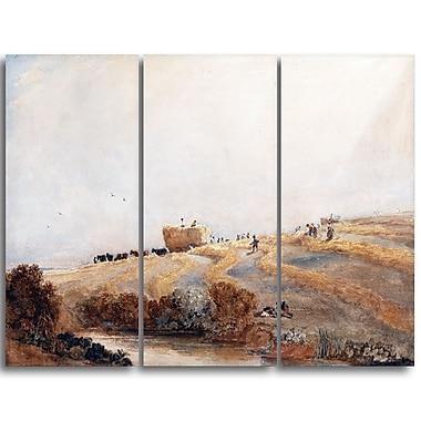 Designart – Tableau de paysage imprimé sur toile, La Fenaison de David Cox (PT4284-3P)