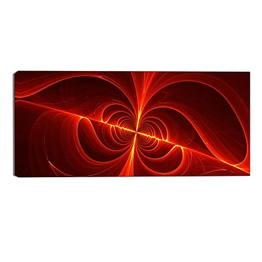 Designart Red Laser Modern Canvas Art Print, (PT3036-32-16)