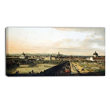 Designart Bernardo Bellotto, Vienna View from Belvedere Palace Master Piece Landscape Artwork, (PT4174-32-16)
