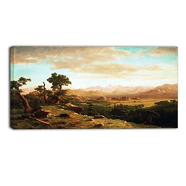 Design Art – Albert Bierstadt, Wind River Country, impression sur toile 3 panneaux
