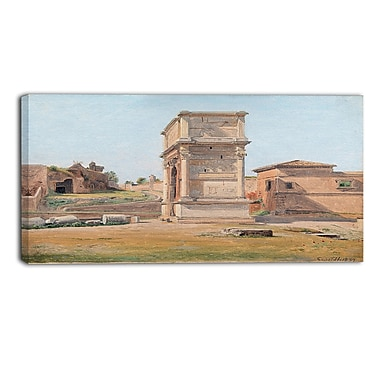 Designart Constantin Hansen, The Arch of Titus in Rome Landscape Canvas Arwork, (PT4271-32-16)