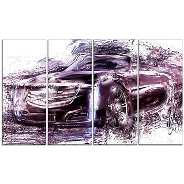 Designart Black Convertible Car Large Gallery Wrapped Canvas, (PT2610-271)