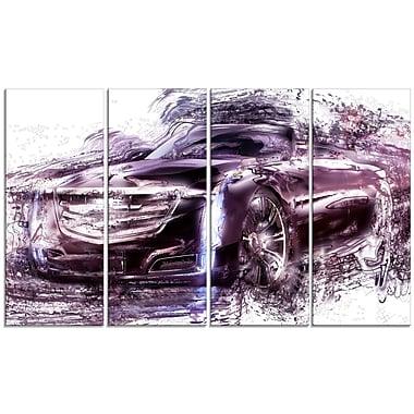 Designart – Voiture décapotable noire, grande toile de style galerie