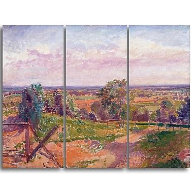 Designart Spencer Frederick, A Landscape in Yorkshire Canvas Art Print, (PT4926-3P)