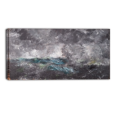 Designart August Strindberg, Storm in the Skerries Master Piece Landscape Artwork, (PT4163-32-16)