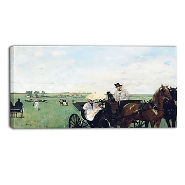 Designart Edgar Degas, At the Races in the Countryside Landscape Canvas Art Print, (PT4310-40-20)