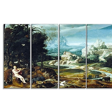 Designart Nicolas Poussin, Landscape with Orpheus Canvas Art Print, (PT5024-271)