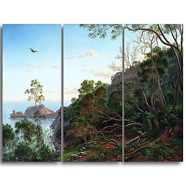 Designart – Tableau paysage imprimé sur toile, « Arbre à thé près du cap Schanck » d'Eugene von Guérard (PT4369-3P)