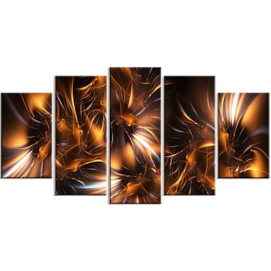 Designart – Tableau sur toile à motif d'étoiles, argent et or, (PT3039-373)