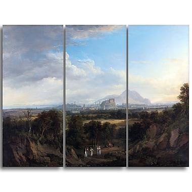 Designart Alexander Nasmyth, A View of Edinburgh 3-Panel Canvas Art Print, (PT4123-3P)