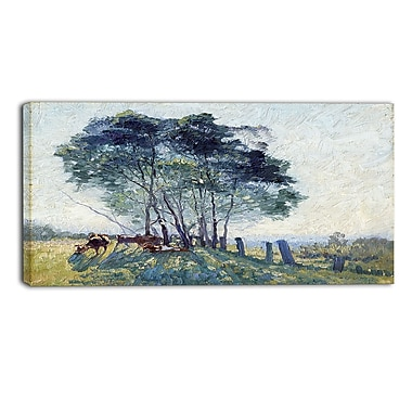Designart Elioth Gruner, The Wattles Canvas Art Print, (PT4355-32-16)