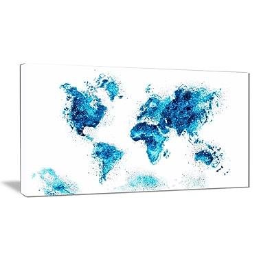 Designart – Carte bleue, imprimé sur toile (PT2708-3-32-16)