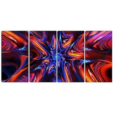 Designart Starry Trance 4-Panel Modern Canvas Art Print, (PT3033-271)