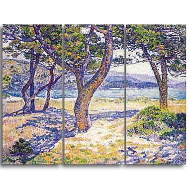 Designart Theo Van Rysselberghe, The Mediterranean Canvas Art Print, (PT4932-3P)