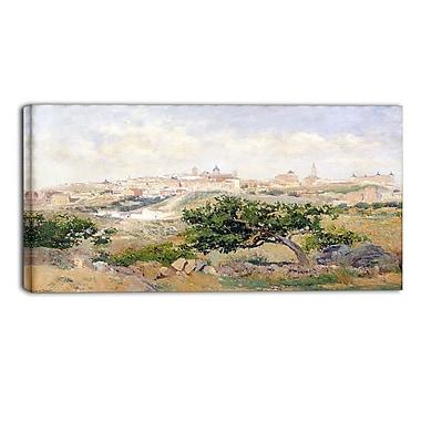 Designart – Aureliano de Beruete, vue de Toledo, œuvre d'art d'un paysage (PT4168-40-20)