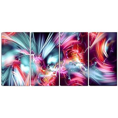 Designart – Art imprimé sur toile, prends le contrôle, 4 panneaux (PT3003-271)