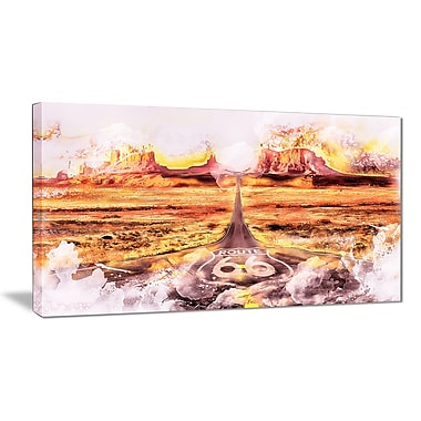 Designart Route 66 Canvas art, (PT2820-32-16)