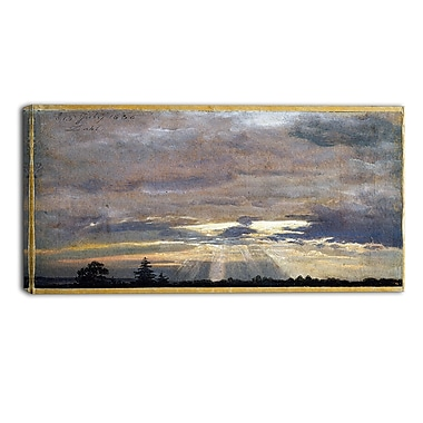 Designart JC Dahl, Cloud Study with Sunbeams Canvas Art Print, (PT4574-32-16)