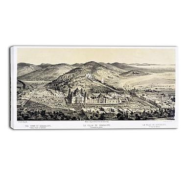 Designart – Tableau paysage imprimé sur toile, La Villa de Guadalupe de Castro Casimiro (PT4214-32-16)