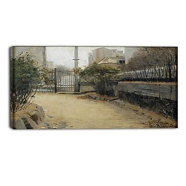 Designart – Toile imprimée de Santiago Rusinol, jardin de Montmartre (PT4921-32-16)
