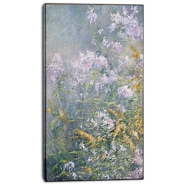 Designart John Henry Twatchman, Meadow Flowers Canvas Art Print, 3 Panels, (PT4647-20-40)
