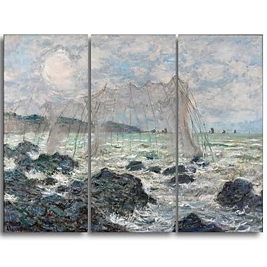 Designart – Imprimé sur toile, Filets de pêche à Pourville de Claude Monet (PT4254-3P)