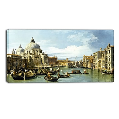 Designart Canaletto, The Entrance to the Grand Canal Canvas Art Print, (PT4203-32-16)