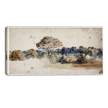 Designart – Paysage par Anthony van Dyck, illustration chef-d'œuvre paysage (PT4141-32-16)