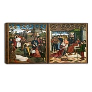 Designart Dirk Bouts, Justice of Emperor Otto III Canvas Art Print, (PT4300-32-16)
