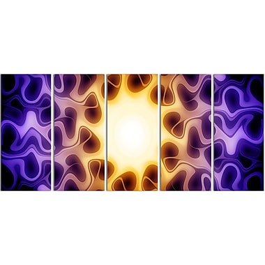 Designart Light Shine Through 5-Panel Modern Canvas Art Print, (PT3042-401)