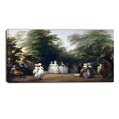 Designart Thomas Gainsborouh, The Mall in St. Jamess Park Canvas Art Print, (PT4954-32-16)