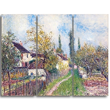 Designart Alfred Sisley, A Path at Les Sablons Large Landscape Canvas Art Print, (PT4128-3P)
