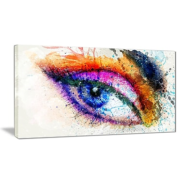 Designart Eyes Are the Window Sensual Canvas Art Print, (PT2905-32-16)