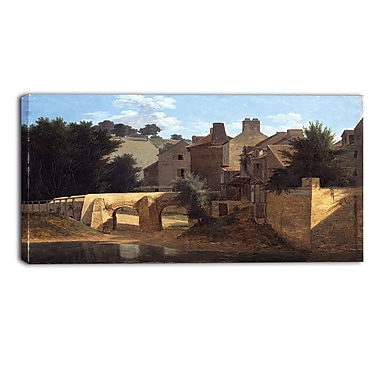 Designart Jean-Victor Bertin, View in the Ile-de-France Canvas Art Print, (PT4590-32-16)