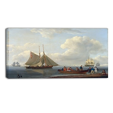 Designart – Toile imprimée de William Anderson « A Wherry Taking Passengers Out » (PT5001-32-16)