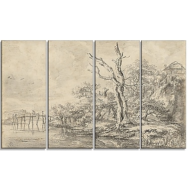 Design Art – Jacob van Ruisdael, Dead Tree by a Stream, impression sur toile