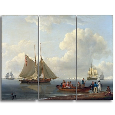 Designart William Anderson, A Wherry Taking Passengers Out Canvas Art Print, (PT5001-3P)