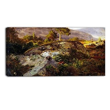Designart Hans Gude, Landscape Study from Vaga Landscape Wall Art, (PT4468-40-20)