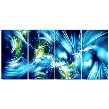 Design Art – Green and Blue Shine, contemporain, impression sur toile