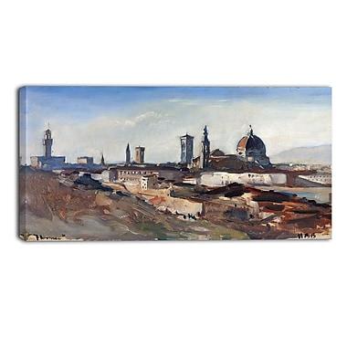 Designart – Hercules Brabazon Brabazon, Florence imprimée sur toile panoramique (PT4503-32-16)