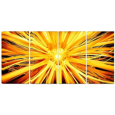 Designart Sunshiney Day 4-Panel Modern Canvas Art Print, (PT3082-271)