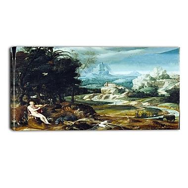 Designart Nicolas Poussin, Landscape with Orpheus Canvas Art Print, (PT5024-32-16)